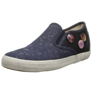 🆕List! Kim & Zozi Navy Button Loafers! NEW!